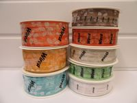 2 metres or 20 metre Roll 25mm Cream Wired Organza Sheer Flower Ribbon